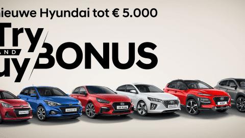 Afbeelding voor Try en Buy bonus bij Hyundai